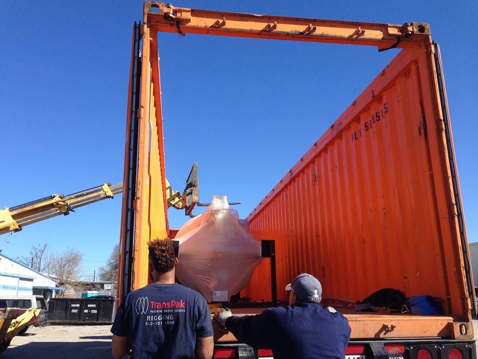 Unloading column still