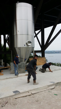 Oasis Brewery tank install