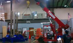 Crane adding press parts