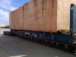 Semi-truck transport of crate