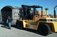 rigging company Austin, Forklift moving machinery