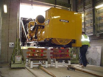 Generator installation utilizing gantry