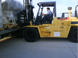 Forklift Haas machine removal