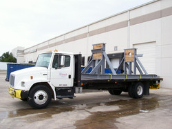 truck with crate supports