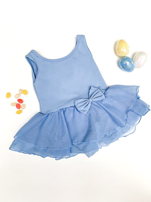 Tank Bow Skirted Leotard (blue)