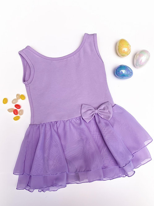 Tank Bow Skirted Leotard (lilac)