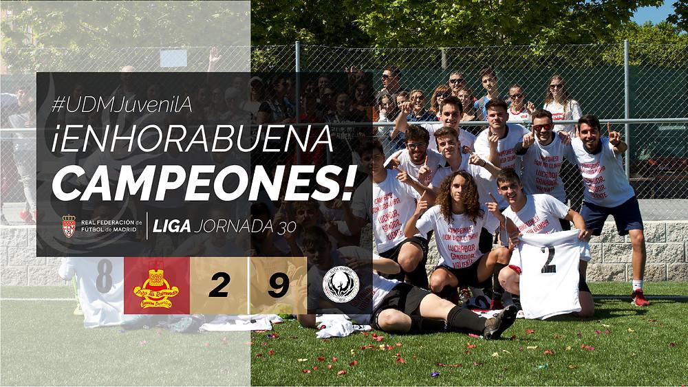 #UDMJuvenilA #Campeones