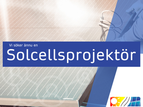 Är du vår nya Solcellsprojektör?