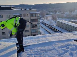 Service av solceller - även på vintern
