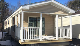 Covered porch on mobile home