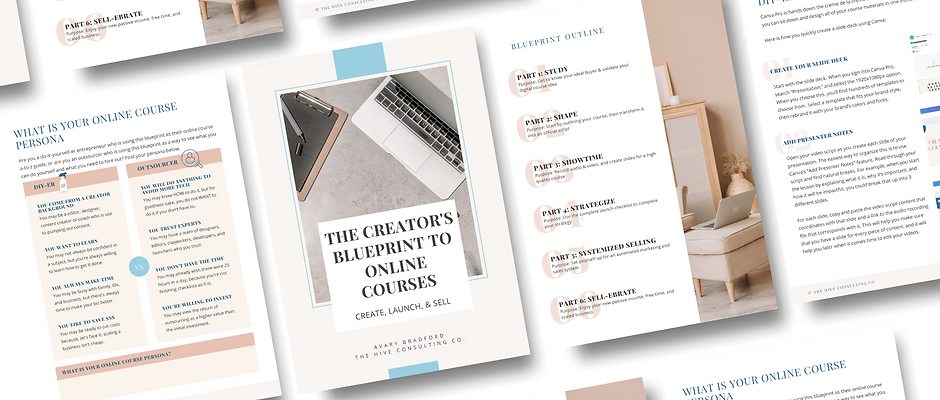 The Creator's Blueprint to Online Courses