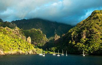 Croisière catamaran Marquises Polynésie Française Fatu Hiva baie des vierges