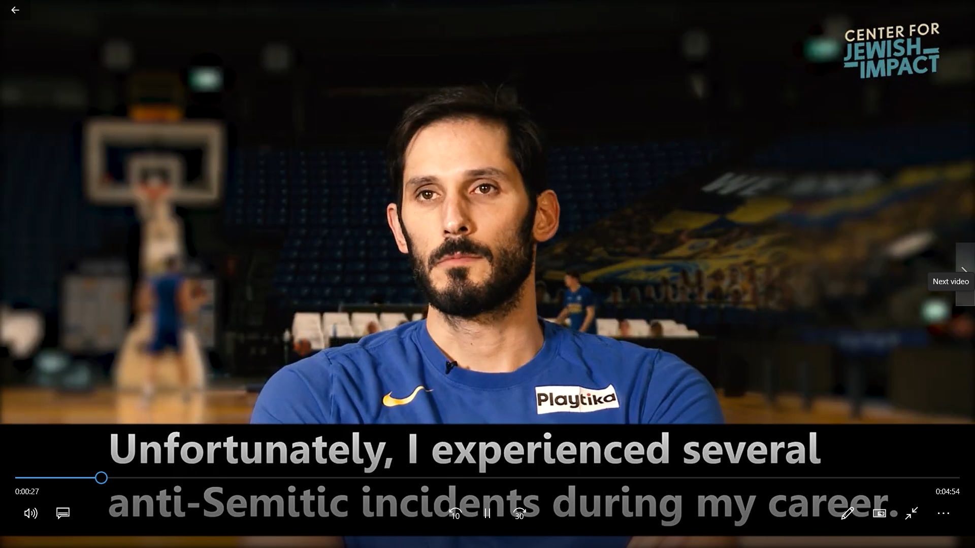 Center for Jewish Impact - Athletes Speak About Anti-Semitism for International Holocaust Remembranc