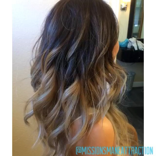 Jaime's beautiful ombré, thanks @jaimeelin for having fun with us today!