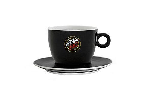 VERGNANO CAPPUCCINO CUPS 12 OZ - BLACK