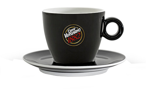 VERGNANO CAPPUCCINO CUPS 8 OZ - BLACK