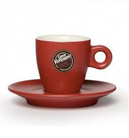 VERGNANO RED COLORED ESPRESSO CUPS