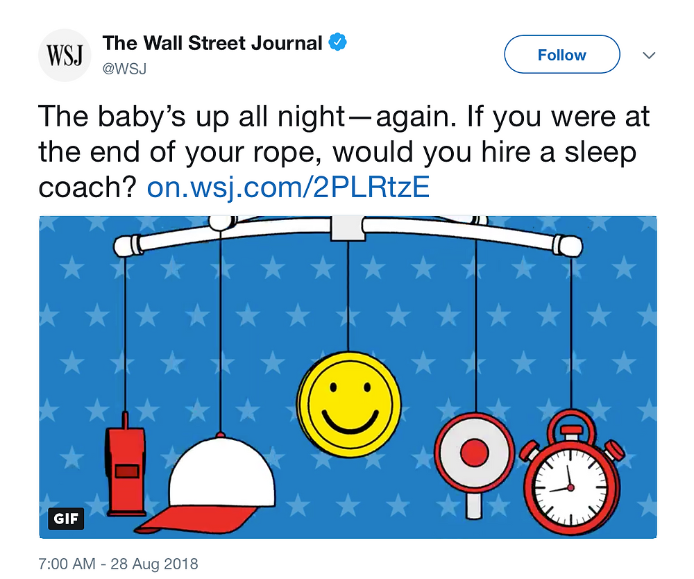 Wall Street Journal: Exhausted New Parents Turn to Sleep Coaches for Their Babies