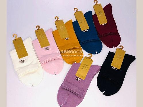 DMDBS Женские хлопковые носки разных расцветок,рисунок пчелка артикул BL-20