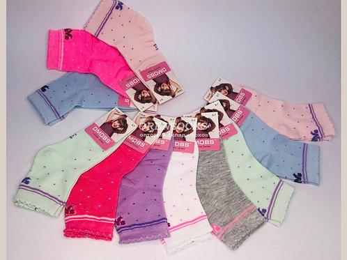 DMDBS Носки детские хлопковые разных расцветок на девочку артикул C18-016