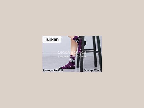 TURKAN Женские носочки высокой длины с пяткой хлопковые хорошего качества, ярких
