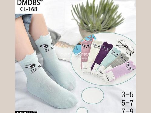 DMDBS Детские хлопковые носки с рисунком и ушками кошечки DMDBS. Арт.CL-168