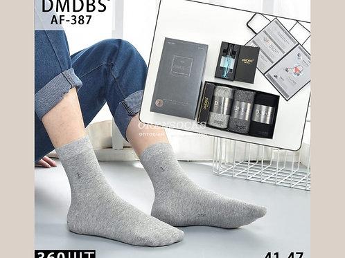 Ароматизированные  мужские носки в коробке по 3 пары с духами  AF-387