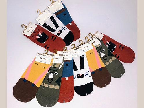 TURKAN носочки укороченные с пяткой хорошего качества ХИТ СЕЗОНА  арт.:691