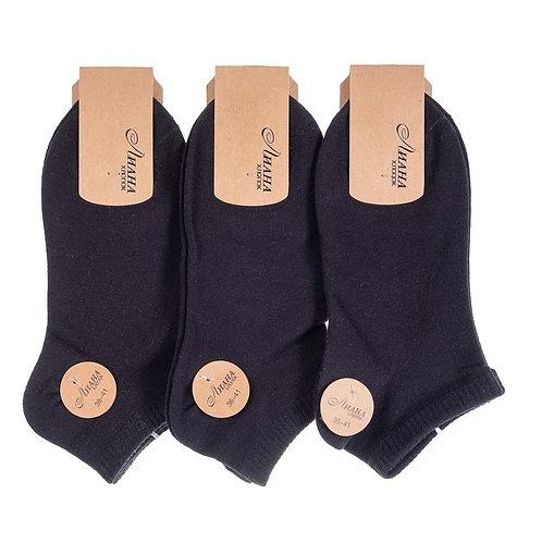 Женские носки из плотного хлопка черного цвета Оско. Артикул 1681А