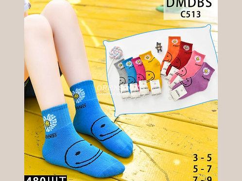 DMDBS Носки детские внутри махровые на девочку яркие расцветки артикул С513