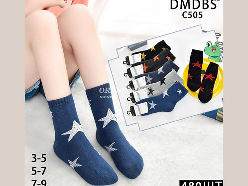 DMDBS детские носки на мальчика, внутри махра, рисунок звезды по всей длине арти