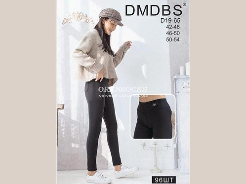 DMDBS  Женские брючки черного цвета с начесом на широком поясе артикул D19-65