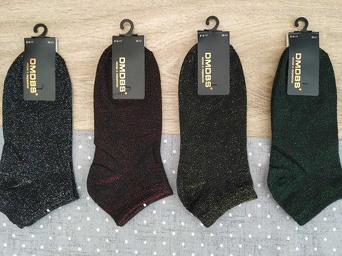 Женские носки  чёрные с люрексовым вплетением.   Артикул  B18-17