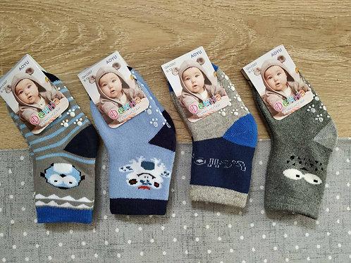 Носки детские Фенна теплые, с тормозами для малышей. Артикул dn-gh-с007