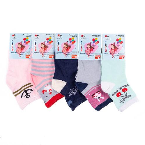 Детские носки  для девочки приятных расцветок. Артикул k135
