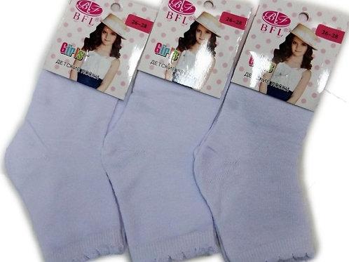 Носочки детские белые с узорной резинкой BFL. Артикул dn-041