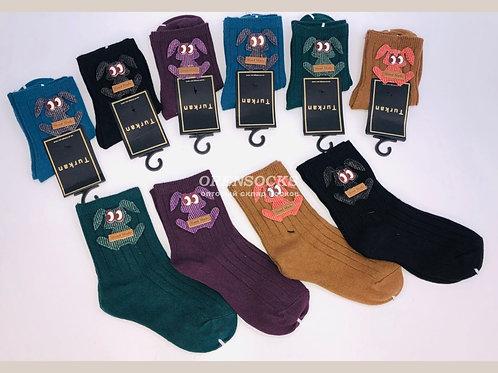 Детские хлопковые носочки с аппликацией зверюшек Туркан. Арт. T2201