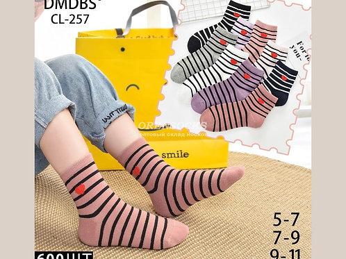 Детские хлопковые носочки отличного качества артикул CL-257