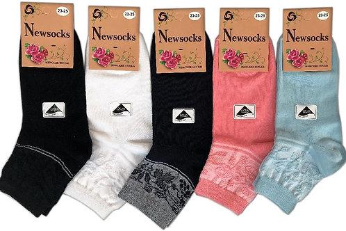 Носки женские Newsocks с красивой резинкой. Артикул zhn-202