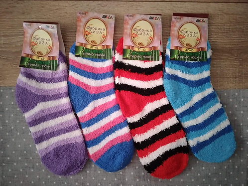 Носки женские мягкие для зимы.  Артикул Травка