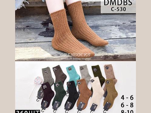 DMDBS детские носки на мальчика высокой длины кашемировые, не махровые, разных р