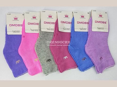 DMDBS Носки детские для девочек внутри махра,без резинки арт. C037