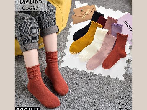 DMDBS Носки детские на девочку, отличного качества, разных расцветок с отворотом