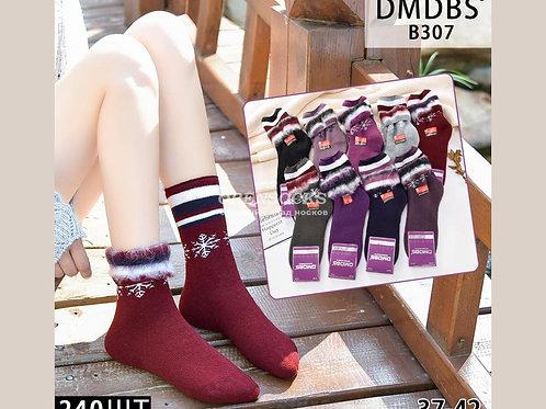DMDBS женские махровые носки БЕЗ РЕЗИНКИ отличного качества арт B307