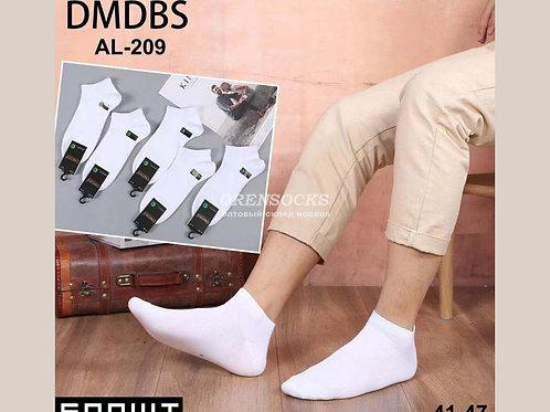 Белые укороченные носки бамбуковые из хорошего бамбука DMDBS артикул  АL-209