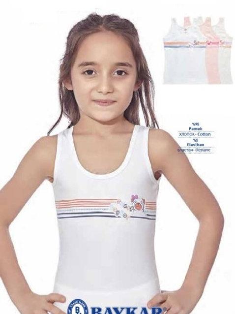 Майка девочкам Baykar из мягкого турецкого хлопка. Артикул 4452