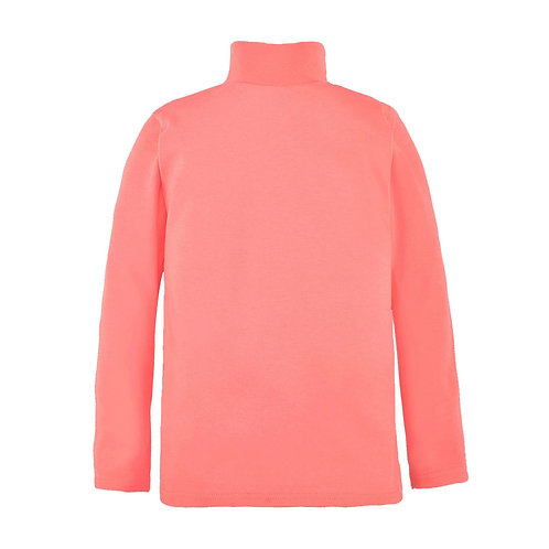 - Водолазка для девочек приятного кораллового цвета. Артикул  SL913