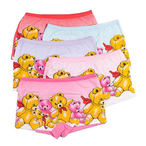 Детские трусы-шорты  Мишки для девочек.  Артикул w8470