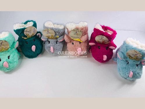 Детские сапожки для дома Лиана артикул C-012S в упаковке размеры 3-5лет(16см),6-