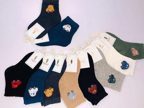 DMDBS Носки детские в упаковке 10 шт разных расцветок c рисунком машинка, отличн